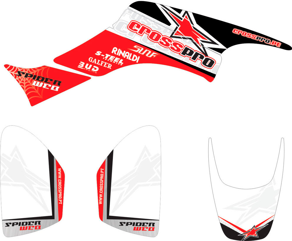 KIT AUTOCOLANTES LIGHT CROSS-PRO TRX 400 •Honda-» TRX 400EX Sportrax 2005-2008