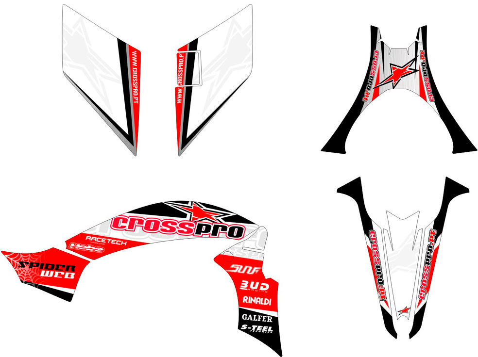 KIT AUTOCOLANTES LIGHT CROSS-PRO YFZ 450 2009 •Yamaha-» YFZ 450R 2009-2013