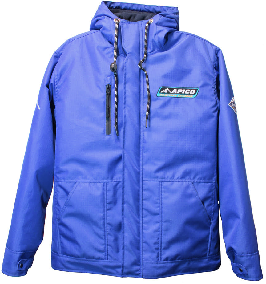 APICO FACTORY RACING WINTER COAT BLUE LARGE - APICO-COAT-BU.JPG