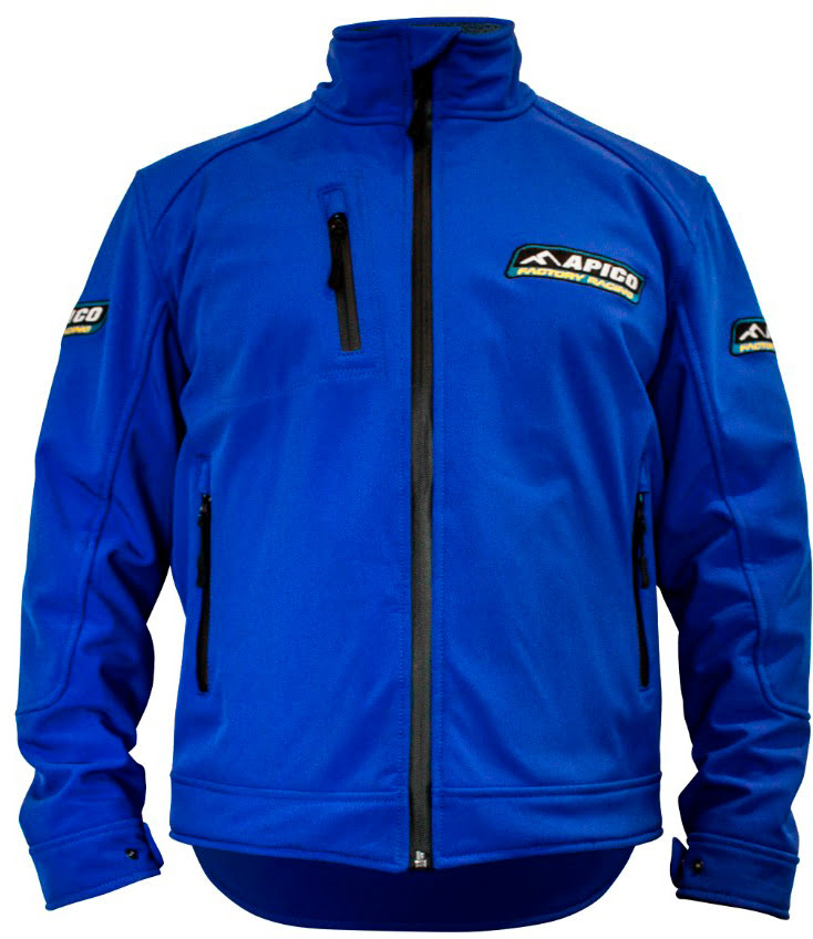 APICO FACTORY RACING SOFTSHELL JACKET BLUE LARGE - APICO-SOFTSHELL.JPG